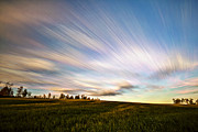 Time Stack Prints - Wind Stream Streaks Print by Matt Molloy