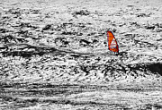 Exciting Surf Prints - Wind Surfing the Southern Oregon Coast Print by Mick Anderson