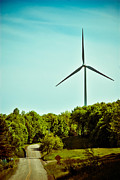 Environmental Conservation Framed Prints - Wind Turbine along rural road Framed Print by Amy Cicconi