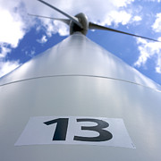 Low Angle Views Prints - Wind turbine. no 13 Print by Bernard Jaubert