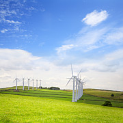Yorkshire Prints - Wind Turbines at Royd Moor Penistone Yorkshire England Print by Colin and Linda McKie