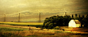 Country Cottage Digital Art Posters - Wind Turbines Poster by Julie Hamilton