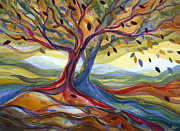 Colorful Trees Metal Prints - Windblown Metal Print by Jen Norton