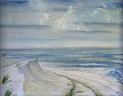 Hall Painting Prints - Windblown Print by Judy Hall-Folde