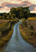 Curvy Road Prints - Winding Country Road Print by Jill Battaglia