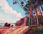 Impressionsm Framed Prints - Winding Pines Framed Print by Erin Hanson