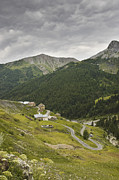 Hilltop Scenes Prints - Winding roads near Bousieyas in the Alpes Maritimes France Europe Print by Jon Boyes