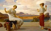 Frederic Leighton - Winding the skein by Frederic Leighton