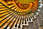 Staircase Photo Metal Prints - Winding Up Metal Print by Chad Dutson