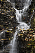 Scenic Digital Art Framed Prints - Winding Waterfall Framed Print by Christina Rollo