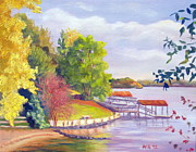 Lake Wylie Prints - Windjammer Park Print by Julia Rietz