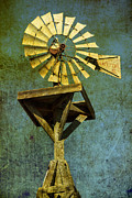 Irrigation Posters - Windmill abstract Poster by Garry Gay