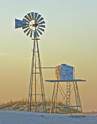 Allen Sheffield Prints - Windmill at Dawn 2011 Print by Allen Sheffield