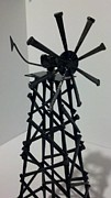 Outdoors Sculptures - Windmill by Donald Swartout