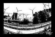 Gerry Robins Prints - Windmill Farm Print by Gerry Robins