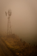 Indiana Photos - Windmill in Mist by F Lee Photography