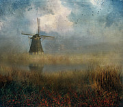 John Rivera - Windmill in mist