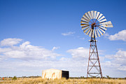 Big Sky Prints - Windmill in Outback Australia Print by Colin and Linda McKie