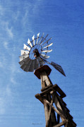 Rural Digital Art - Windmill by Mary Machare