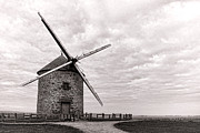Grain Mill Framed Prints - Windmill Framed Print by Olivier Le Queinec