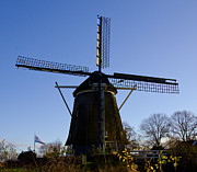 Amsterdam Digital Art - Windmill by Pravine Chester