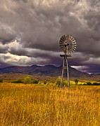 Haybales Art - Windmill by Robert Bales