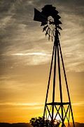 Windmill Sunset Print by Mitch Shindelbower