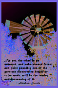Honest Abe Posters - Windmill With Lincoln Quote Poster by Barbara Snyder