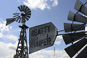Bob Christopher Travel Photographer Posters - Windmills 1 Poster by Bob Christopher