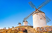 Mancha Posters - Windmills in Spain Poster by JR Photography