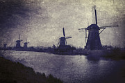 Haze Metal Prints - Windmills Metal Print by Joana Kruse