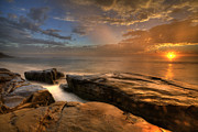 La Jolla Prints - WindNsea Gold Print by Peter Tellone