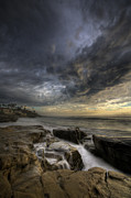 Storm Clouds Prints - WindNSea Light Found Print by Peter Tellone