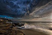 La Jolla Prints - WindNSea Stormy Print by Peter Tellone