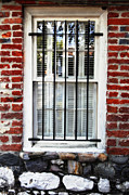 Jeff Holbrook Art - Window and Bricks by Jeff Holbrook