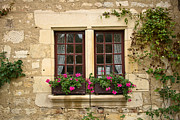 Apremont Posters - Window and flowers Poster by Oleg Koryagin
