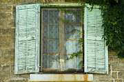 Ron Pettitt Prints - Window and Shutters Print by Ron Pettitt