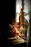 Oil Lamp Digital Art Posters - Window and Sunshine 1 Poster by Sheri McLeroy
