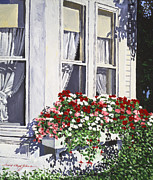 Window Box Colors Print by David Lloyd Glover
