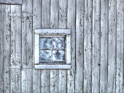 Wooden Building Art - Window by Juli Scalzi