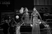 Apparel Framed Prints - Window Display in Chicago 1973 Framed Print by Randall Nyhof