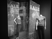 White Slacks Prints - Window Display Sale with Mannequins No.1292 Print by Randall Nyhof