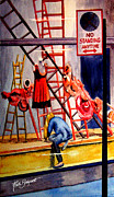 Store Window Display Paintings - Window Dressing by Ruth Bodycott