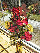 Blooming Digital Art - Window Flowers by Pamela Briggs-Luther