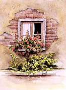 Brick Paintings - Window Flowers by Sam Sidders