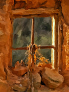 Rust Paintings - Window from the Past by Michael Pickett