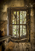 Derelict Prints - Window Grunge Print by Sophie De Roumanie