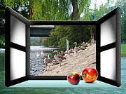 Pictures Buy Photography Digital Art - Window II Gooses Art Artist by S Art