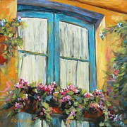 Chris Brandley Paintings - Window in Assisi by Chris Brandley