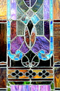 Stained Glass Windows Prints - Window in Montgomery Print by Carol Groenen